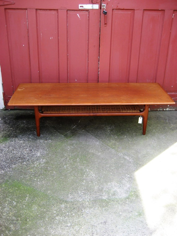 Mid Century Modern Danish Coffee Table by Trioh on reserve