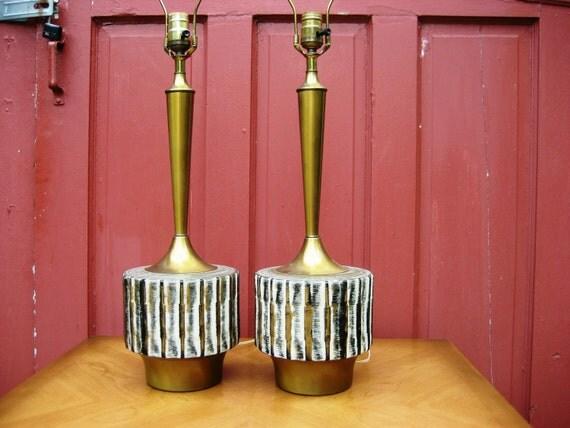 Hollywood Regency Modern Table Lamp Set of 2