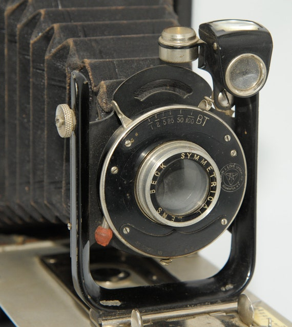 Very Vintage Houghton Butcher Ensign The Carbine No. 5b Camera, Tag 1089