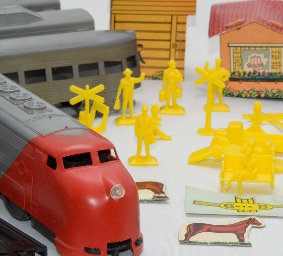 Vintage Toy Train Set