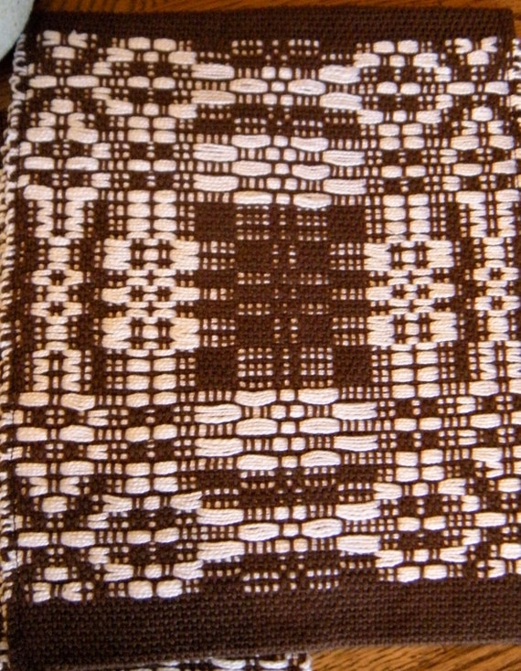 Pot Holder, Brown And White Handwoven Hot Pad, Hand Loomed Pot Holder, Woven Fabric Trivet, Hand Woven Pot Holder, Hand Loomed Hot Pad