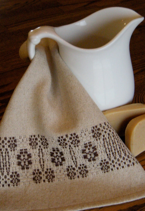 Handwoven Complexion Wash Cloth - Natural Beige and Brown