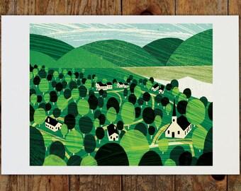 14x11 Vermont Landscape Art Print