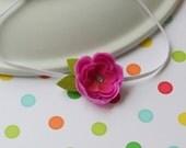 Chic Pink Flower Headband - Newborn - Baby - Toddler Headband - ALL SIZES