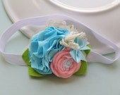 House of Clouds  Flower Headband - Newborn - Baby Headband - Toddler Headband - ALL SIZES