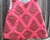 Raspberry Fudge Crossover Pinafore 3-6 mo