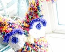 6 to 12m Rainbow Owl Hat Baby Rainbow Hat Baby Crochet Owl Hat - Baby Girl Owl Rainbow Hat Baby Photo Prop