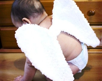 12 to 24m Angel Wings White Angel Wings - Fairy Wings Baby Crochet Angel Costume Baby Dress Up Photo Prop