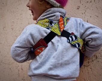 Kids African Utility Vest, festival bag