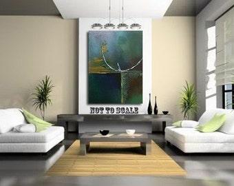 Reflection - Original - Abstract painting - DanielBrunosArts   18'' x 24'' ( x1.5'' deep)