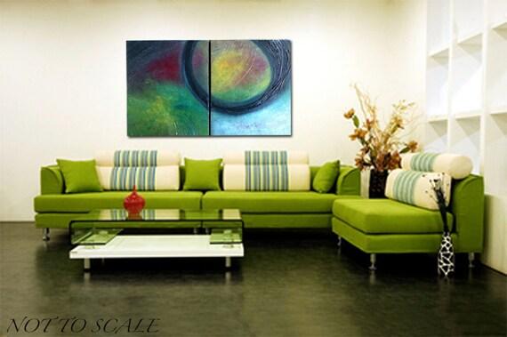 Adjusting - Original - Abstract painting  24'' x 36''  (  x1.5'' deep) DanielBrunosArts