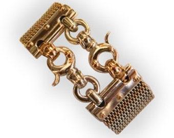 HANDMADE gold chain BRACELET/gold handmade chain bracelet/ handmade Braided Bracelet / Gold handmade clasps/  handmade gold chain bracelet