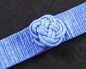 Vintage Cinch Belt, Bright Blue, Stretchy