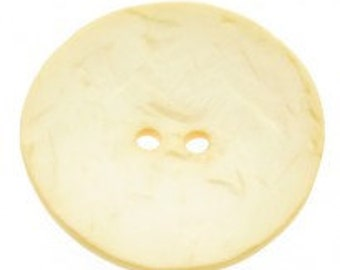 Large Round Cream Button - Two Holes - 60mm