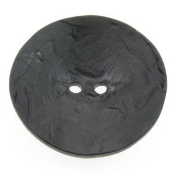 Large Round Black Button - Two Holes - 60mm