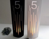 L i n e s Table Numbers, Table Markers, Luminaries, Cusotm Table Markers, Unique Table Markers