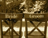 Bride and Groom Vinyl Decal Set - 24 Colors to Choose From