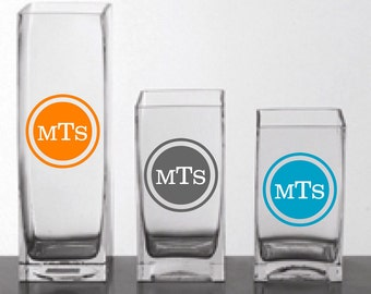 Personalized Wedding Monogram Vinyl Decals for Weddings Vases, mugs, candles - Personalized Gifts - Chirsmtmas Gift
