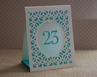 Wedding Table Numbers, Table Number Luminary, Wedding Table Markers, Table Markers, Luminary, Table Cards  - BRIDGE Style B
