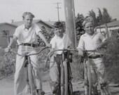 Boys on their Bikes - 1940's Vintage Photo