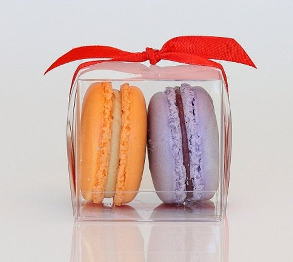 Wedding Favor Boxes For Macarons : ... Wedding Favor BoxesTwo French MacaronsSold in Set of 10 Boxes on