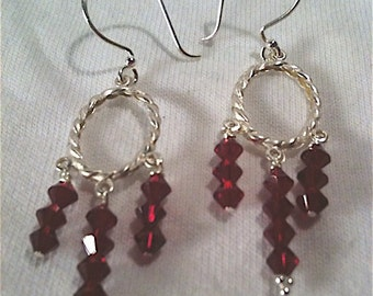 Santa Baby Chandelier Earrings