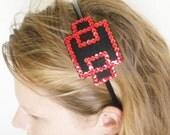 Art Deco Red Sequined Headband