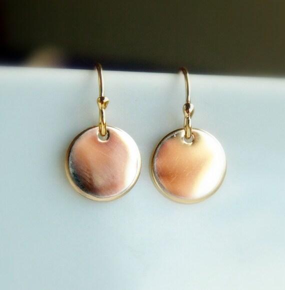 Gold earrings, dangle earrings, circle earrings, gold coin, wedding, everyday, bridal, gift for her, sister, trending, celebrity