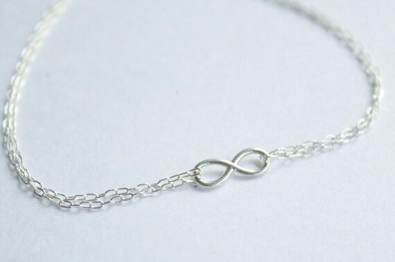 Infinity bracelet - Sterling silver, friendship bracelet, birthday gift, delicate bracelet