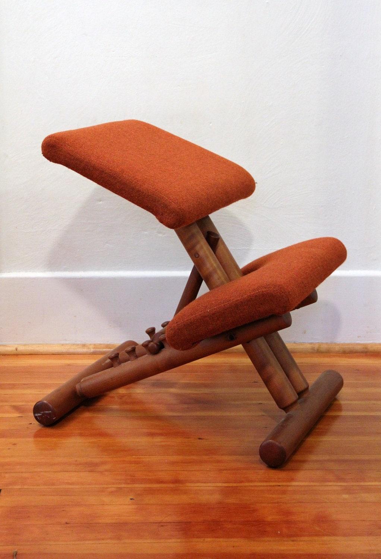 Vintage Teak Kneeling Ergonomic Chair