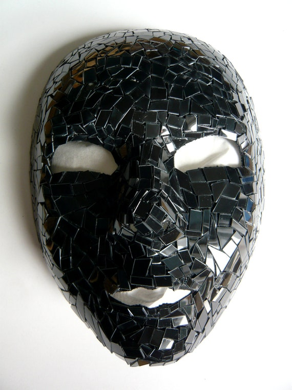 Venice Full Face Black Mirror Mask: Venice Full Face Black Mirror Mask By Maskupnet On Etsy