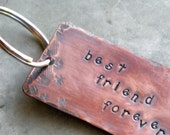 Copper Key Ring- Best Friend Forever