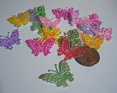 Shiny Butterfly appliques for Crafting, sewing, scrapbooking, hair clips, accessories