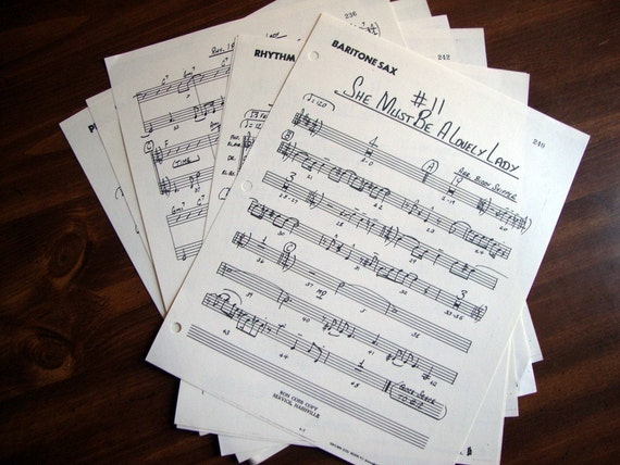Ephemera Music Paper for collages, altered art, scrapbooking, book making, crafts