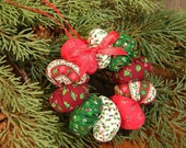 Christmas YoYo Wreath Ornament