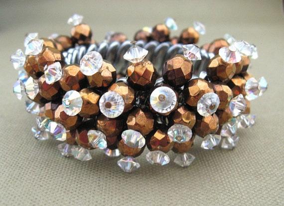 Crystal Expansion Bracelet, chunky beaded bracelet, jewelry on sale