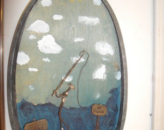 Mercury Outboard Motor Collar Art Wall Hanging