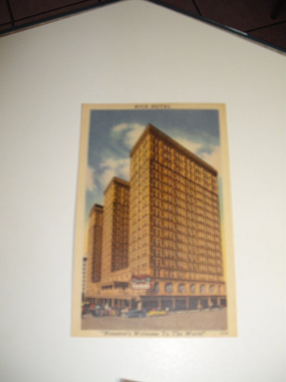 Rice Hotel postcard from the 1940's