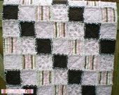Baby rag quilt ready to ship