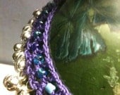 Gypsy Bells Anklet : Cotton, glass beads, extra silver tone bells