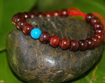 Rosewood Turquoise Wrist mala/ Bracelet for meditation