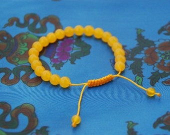 Yellow Jade Wrist Mala/ Bracelet for meditation GMS-71
