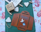 Envelope Template - Antique Japanese Style wooden template - SMALL