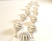 Reserved for StacyLeann Silver Moonbeam vintage beaded necklace
