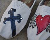 "Custom TOMS Shoes- ""Iron Cross"""