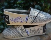 Custom TOMS Shoes - What is Love Theme WITH color name personalization