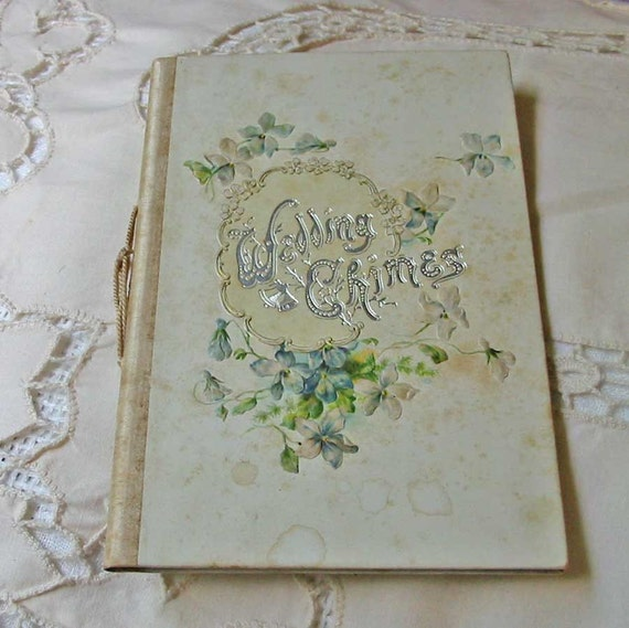 1910 WEDDING Day CHIMES BOOK  Edwardian Keepsake, Illustrated, Lily of the Valley, Forget Me Not, Roses, Lilac, Kansas
