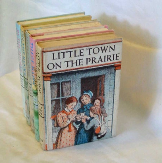 1953 LITTLE TOWN on the Prairie Laura Ingalls Wilder Girls Adventure Story, Famous Classic Book, Original HC Edition, Garth Williams