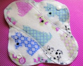 White Pink Blue Scottie Dog--8 inch--SOFT Comfy Cloth Sanitary Pad--Panty Liner--Feminine Pad--BUY 3 get 1 FREE