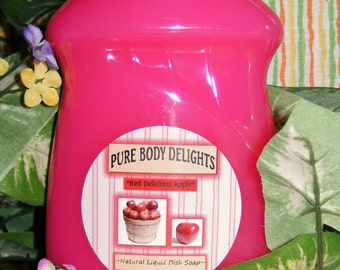 RED DELICIOUS APPLE---Natural Liquid Dish Soap--Made from Scratch---Luscious and Juicy--Lots of Wonderful Scents